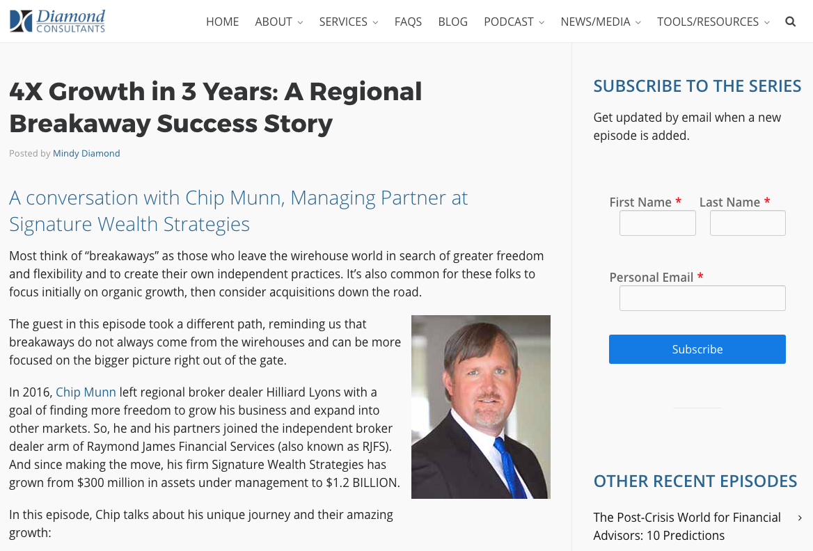 chip munn, diamond-consultants.com